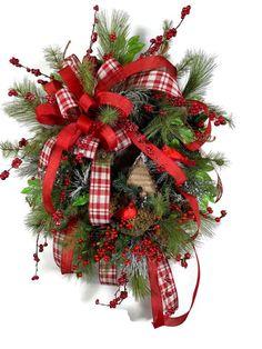 Christmas Door Wreath Santa Claus Wreath Artificial Garland Wreaths for Christmas Decoration Ringnigt Xmas Door Wreaths