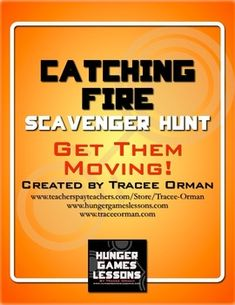 Catching Fire Novel Scavenger Hunt Review Activity - great activity for students who need to get up & move around.