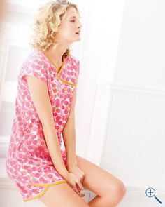 Asian Wrap Cap Sleeve Pajamas from Garnet Hill  #garnethill and #summerstyle