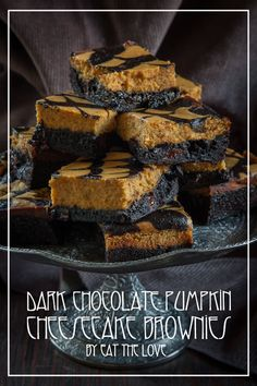 Pumpkin Cheesecake Brownies by Irvin Lin of Eat the Love | http://www.eatthelove.com/2013/10/pumpkin-cheesecake-brownies | #pumpkin #cheesecake #brownies