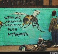 via greenpeace- Save the bees! Street artist Louis Masai ,Michel created these graffiti artworks around London to draw attention to bee decline Graffiti Kunst, Street Art Graffiti, Graffiti Artists, Colossal Art, Bee Art, London Art, London Street, Save The Bees, Bees Knees