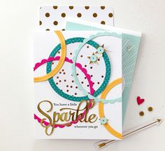 You Leave A Little Sparkle Card by Danielle Flanders for Papertrey Ink (September 2014)