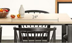 Measuring your dining room for furniture space - Room & Board
