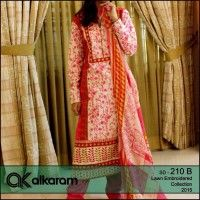 ALKARAM lawn embroidery collection