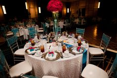 turquoise and red wedding | Red and Aqua Atlanta Wedding by In The Moment Wedding Photography