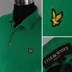 0e3584c414 Lyle-amp-Scott-Mens-Green-Summer-Cotton-Short-Sleeve-Polo-Shirt-SIZE-M.  Retro Sisters Antique Store · Vintage Men s Wear