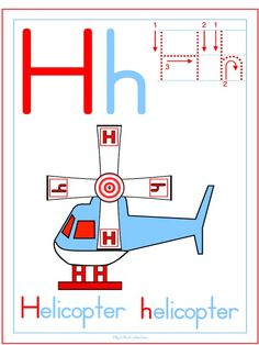 h is for helicopter, ideas and some free printables