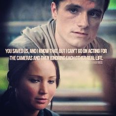 Catching Fire! In the trailer I could never hear what peeta said @ this part...now I know