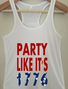 Party like 1776 Tank Top  Funny Tank Top  4th of by BlackCatPrints