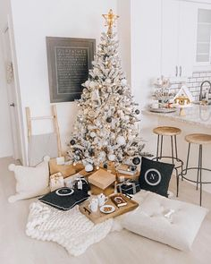 Last year's Christmas tree set up bringing me all of the cozy feels! Went with more white, wood and soft pinks this year for ornaments… Christmas Tree Set, Black Christmas, Christmas Decorations, Table Decorations, Holiday Decor, I Don T Know, Summer Sale, Winter Wonderland, Pink White