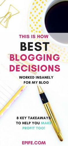 Excited to make best blogging decisions for your blog? Whether you are a problogger or want to start a blog these decisions will help you make a profitable blog to earn and make money online. This is how I did! I showed the exact ways to grow your online business. Click to read the post and PIN it to come back!