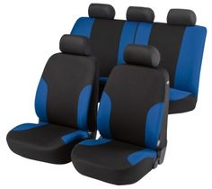 Autositzbezug Lyon blau/schwarz