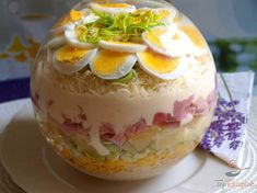 China-Schichtsalat - The Best Of List Low Carb Recipes, Cooking Recipes, Healthy Recipes, Main Food Groups, G 1, Pasta Salad Recipes, Food Presentation, Diy Food, Food And Drink