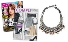 Swooning over the Kahlo Bib Necklace – Hematite by Stella & Dot featured in Star Magazine