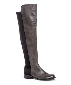 Look at this French Blu Gray Harlem Shake Over-the-Knee Stretch Boot on #zulily today!
