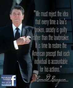 PRESIDENT Ronald Reagan - His quotes are always timeless as this one profoundly is. Great Quotes, Quotes To Live By, Me Quotes, Inspirational Quotes, Motivational, Ronald Reagan Quotes, Conservative Politics, Conservative Quotes, Way Of Life