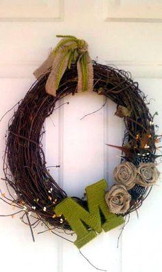 cute personalized door wreath