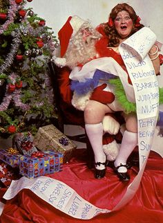 Here are the grand goddesses of John Waters' Dreamland repertory company, Divine, Edith Massey, and Jean Hill, making spirits bright for the holidays in this collection of pin-up photos.   Though all three performers have sadly left this planet (Divine in 1988, Edie in 1984, and Jean Hill in 2013), their beauty and glamour lives on.   The majority of these photos were taken for novelty Christmas cards in the '80s—the sort you would have found at a Spencer's Gifts back in the day.      ...
