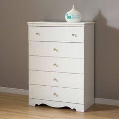 South Shore 4 Drawer Dresser White