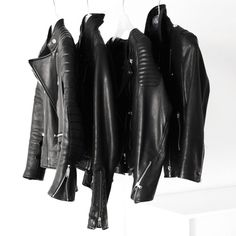 gorgeous collection of black leather jackets #style #fashion