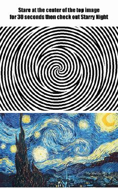 Starry Starry Night optical illusion (GIF)