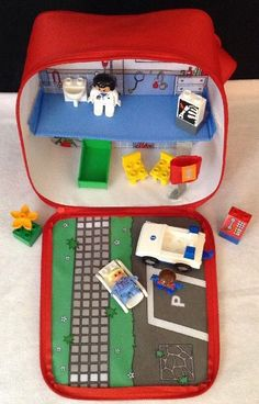 LEGO Duplo #3617 Explore On the Move Hospital EMS Carry Playset Bag w 3 Figures | eBay