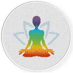 Chakra Yoga Cross Stitch Pattern, You can make very specific styles for textiles with cross stitch. Cross stitch versions will almost amaze you. Cross stitch novices may make the versions they need without difficulty. Free Cross Stitch Charts, Cross Stitch Art, Simple Cross Stitch, Counted Cross Stitch Patterns, Cross Stitch Designs, Cross Stitching, Cross Stitch Embroidery, Embroidery Patterns, Hand Embroidery