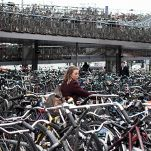 A Sea of Bikes Swamps Amsterdam