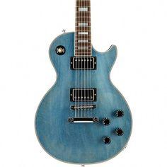 Gibson Custom Les Paul Custom Mahogany Top Electric Guitar TV Pelham Blue Les Paul Custom, Gibson Guitars, Body Electric, Gibson Les Paul, Tv, Blue, Television Set, Television