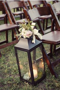 wedding ceremony lantern decoration! very romantic and simple! #lantern #decor #ceremony