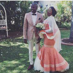 latest shweshwe dresses styles 2019 - style you 7 African Traditional Wedding Dress, Traditional Wedding Attire, African Wedding Dress, African Weddings, Xhosa Attire, African Attire, African Dress, African Clothes, Shweshwe Dresses