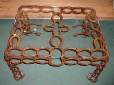 horseshoe coffee table
