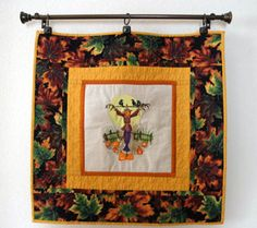Autumn Scarecrow Wall Hanging