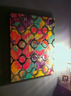 Holly Golightly Quartrefoil Abstract Painting by Jennifer Moreman