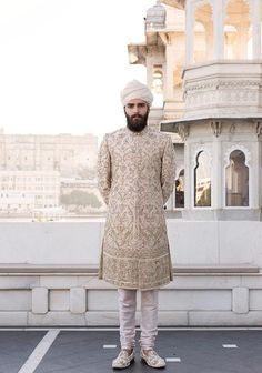 For the sherwani length, churidaar and shoes style