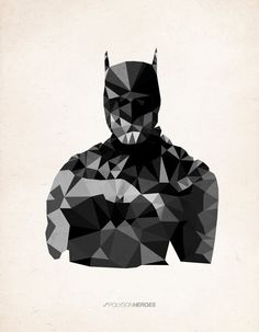 James Reid's abstract interpretations of various heroes through polygons are strong and compelling. Reid has made artwork for several DC Comics, Marvel, Star Wars, and TV show heroes.