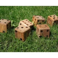 Wooden yard dice - make huge wooden light weight dice for outdoor fun and exercise rotation or for outdoor bunco or yahtzee Outdoor Games, Outdoor Fun, Backyard Games, Garden Games, Outdoor Activities, Outdoor Stools, Wedding Activities, Outdoor Stuff, Outdoor Ideas