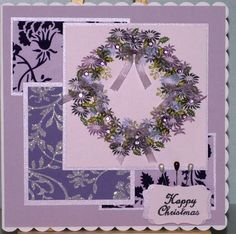 Christmas 2011 for Helen. Rubber stamp tapestry stamps, Adirondack IP's, snippets, ribbon, SU punch