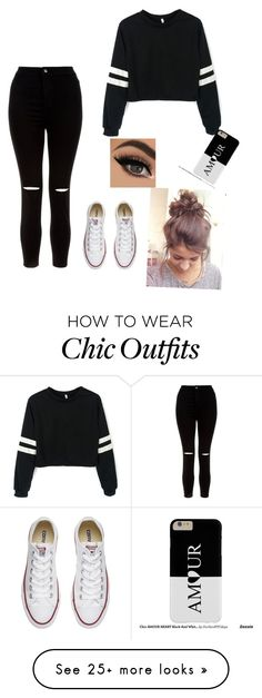 """""""Cool and Casual"""" by ms-professorpancakes on Polyvore featuring New Look and Converse"""