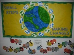 earth day bulletin board, green bulletin board via green ribbon schools