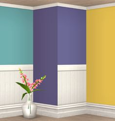 Painted walls in an-na's colors with HolySimoly's moulding  §4 and panels  §5ts2 download sfs