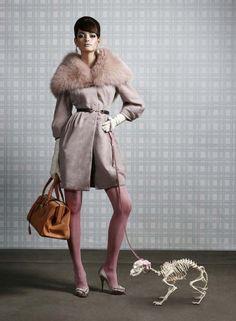 love the coat !! creepy dog ? ....not so much