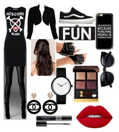 """""""V H"""" by vitalina-paciu ❤ liked on Polyvore featuring Moschino, ESCADA, Vans, Casetify, Chanel, Lime Crime, Christian Dior and Tom Ford"""