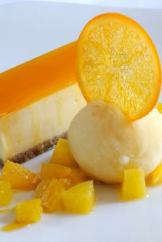 This white chocolate cheesecake recipe by Matthew Tomkinson is enhanced by adding passion fruit to a traditional white chocolate cheesecake recipe