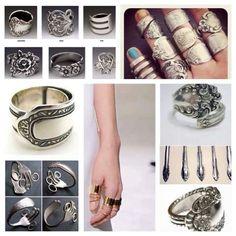 Créer des bijoux avec des couverts en argent... ...