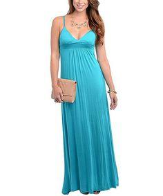 Look at this #zulilyfind! Teal Maxi Dress #zulilyfinds