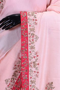 Handmade Embroidery Designs, Saree Embroidery Design, Zardosi Embroidery, Embroidery Suits Punjabi, Hand Work Embroidery, Embroidery Fashion, Saree Blouse Patterns, Saree Blouse Designs, Designer Silk Sarees