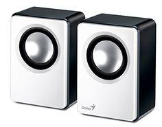 """Genius 2.0 Lautsprecher-System """"SP-Q120 Black'n White"""" Soundeinheit: 50 x 50 mm, 8 Ohm, mit 3,5 mm Klinkenstecker, Frequenzbereich: 30 Hz-20kHz, USB-Stecker, Farbe; weiß / schwarz, Lautstärkeregler, Rauschverhalten 70 dB, Maße: (B)71 x (T)65 x (H)110 mm (31731054100)            ... http://altavocespara.com/ordenador/genius/genius-sp-q120-altavoces-30-20000-hz-alambrico-71-cm-65-cm-11-cm-usb-negro-color-blanco/"""
