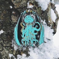 #Repost @arcadecult  rare shot of cthulhu before he started making snow angels. limited edition relic of the cosmos variant available at arcadedaze.com    (Posted by https://bbllowwnn.com/) Tap the photo for purchase info. Follow @bbllowwnn on Instagram for great pins patches and more!