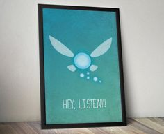 Legend of Zelda Inspired Vintage Poster  Navi by ThePixelEmpire, $18.00